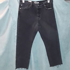 Levi's wedgie fit straight black jeans